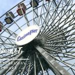 Close up of casino pier Ferris wheel