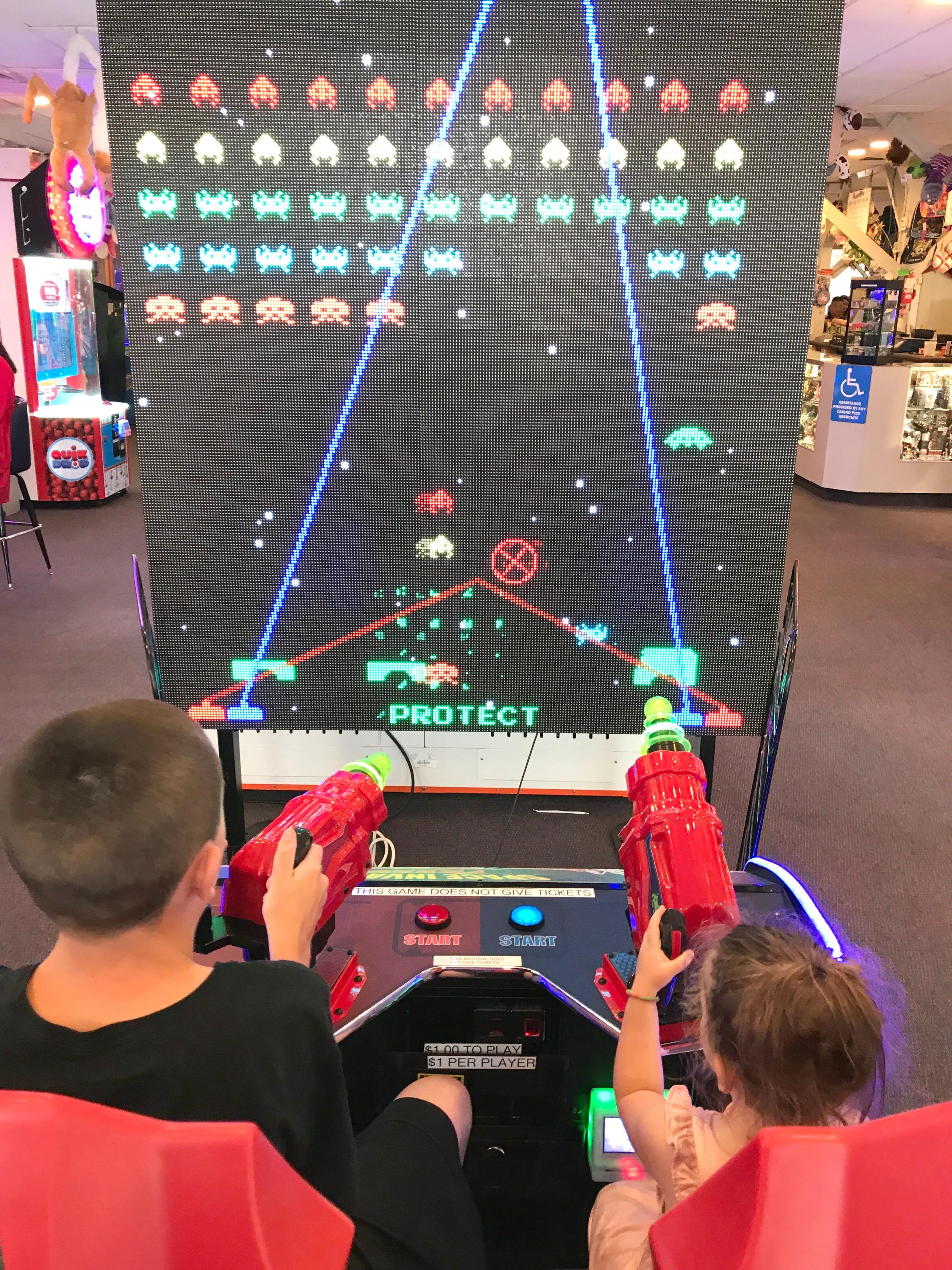 Arcade Games in Casino Pier