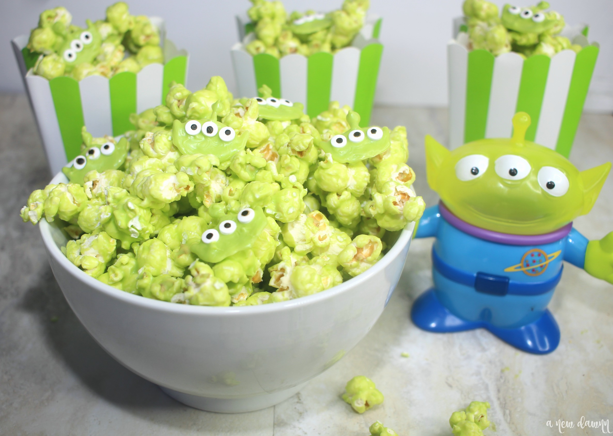 toy story alien and toy story popcorn