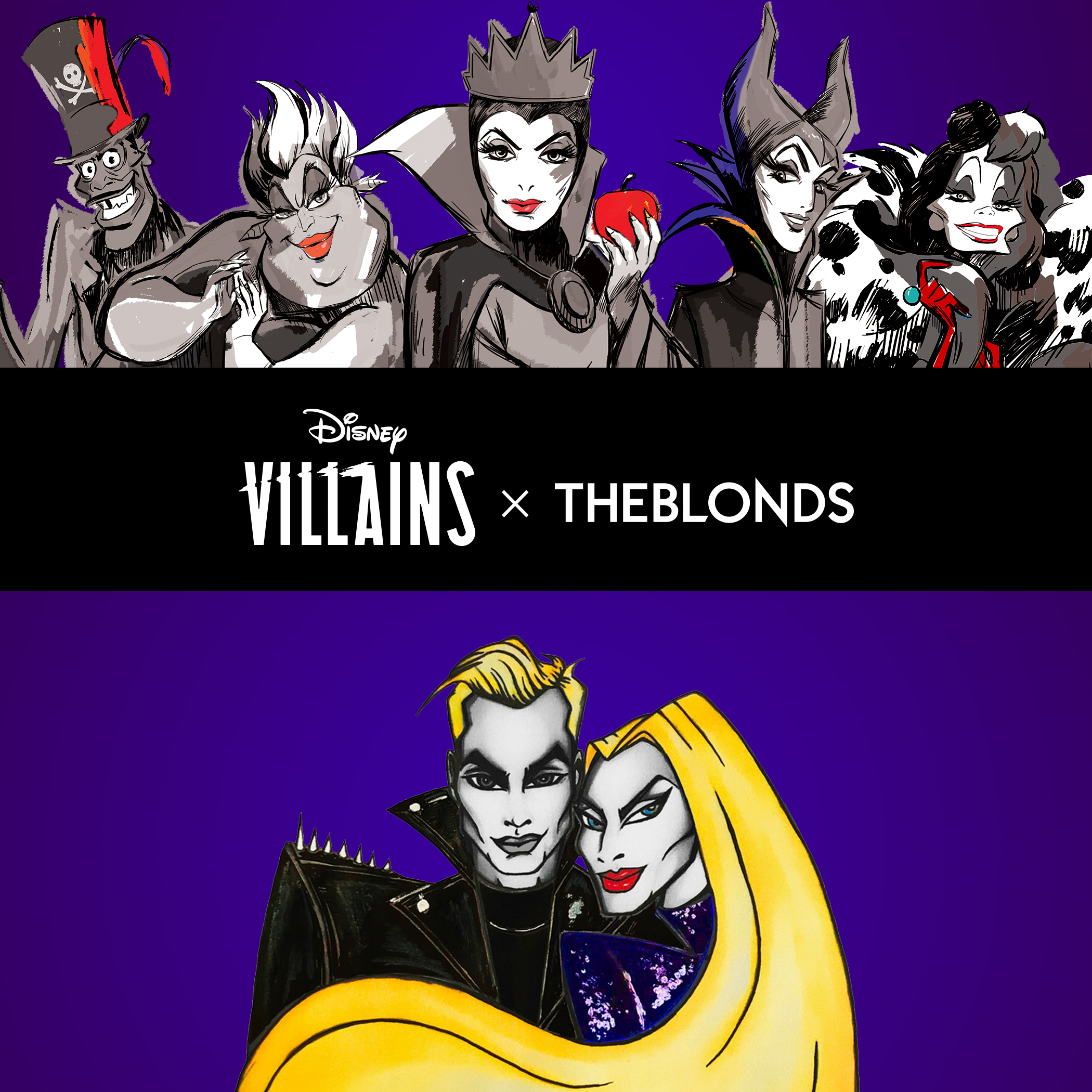 Sketch of Disney Villains x The Blonds