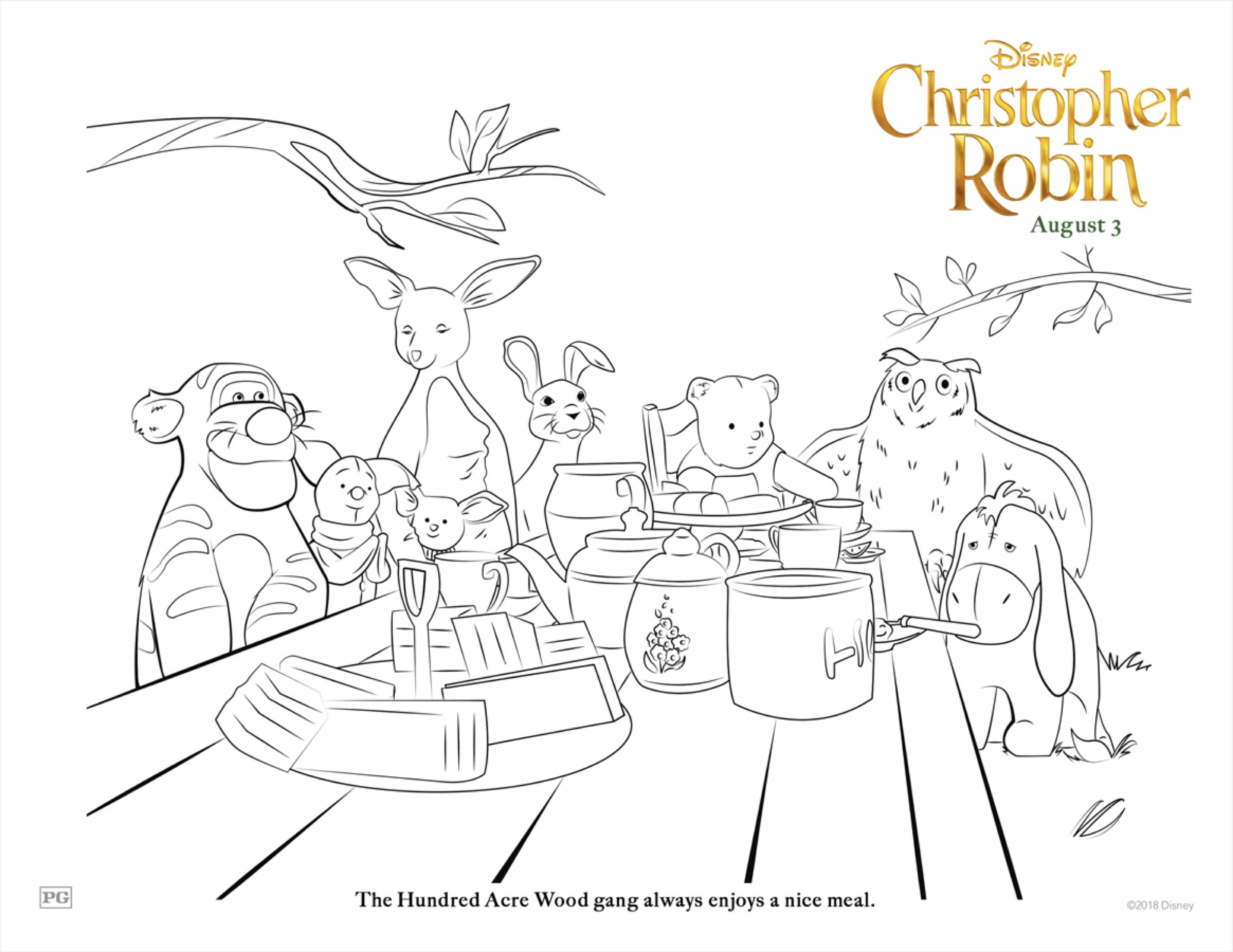 Christopher Robin Amp Winnie The Pooh Printable Coloring Sheets