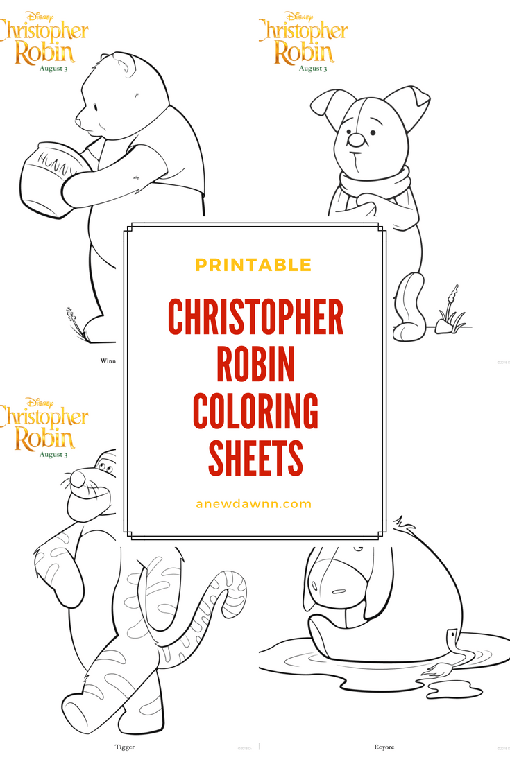 printable Christopher Robin coloring sheets