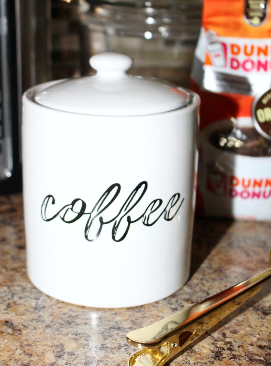 DIY Farmhouse Inspired Coffee Jar