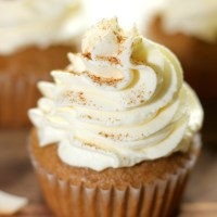 Coquito Cupcakes with Coquito Whipped Cream Icing