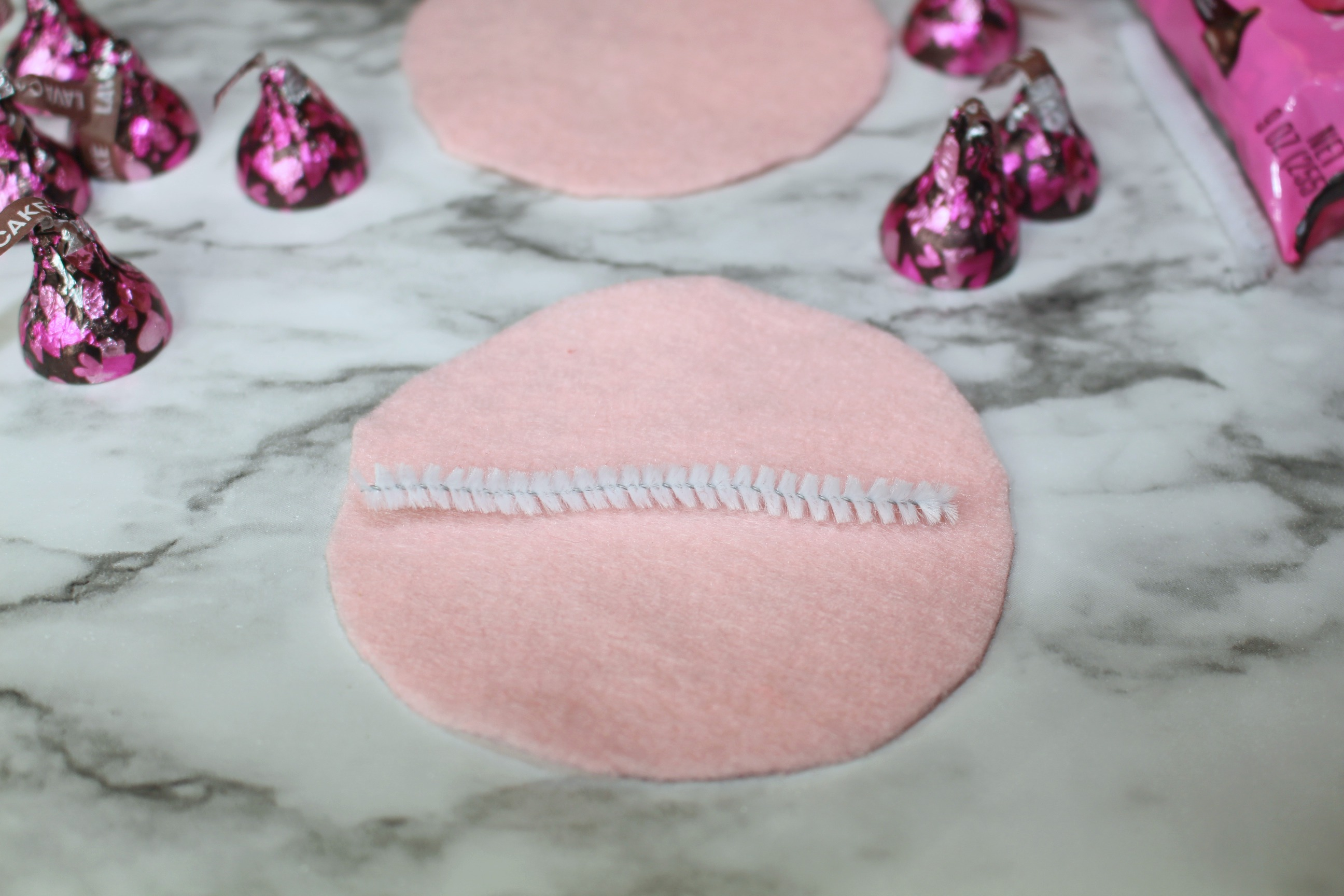 DIY HERSHEY® KISSES Chocolates Filled Felt Fortune Cookies Tutorial