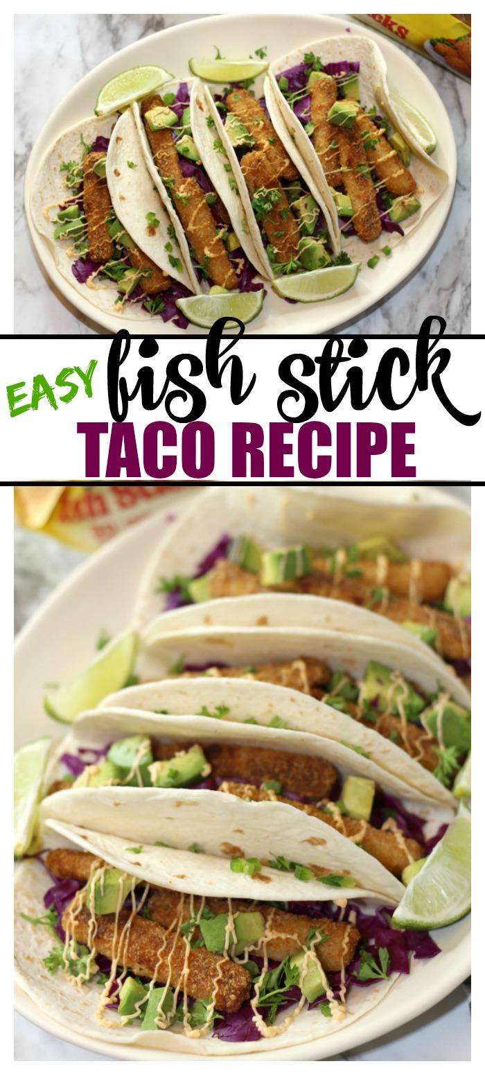 Easy Fish Stick Taco Recipe