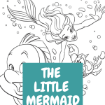The Little Mermaid FREE Printable Coloring Sheets