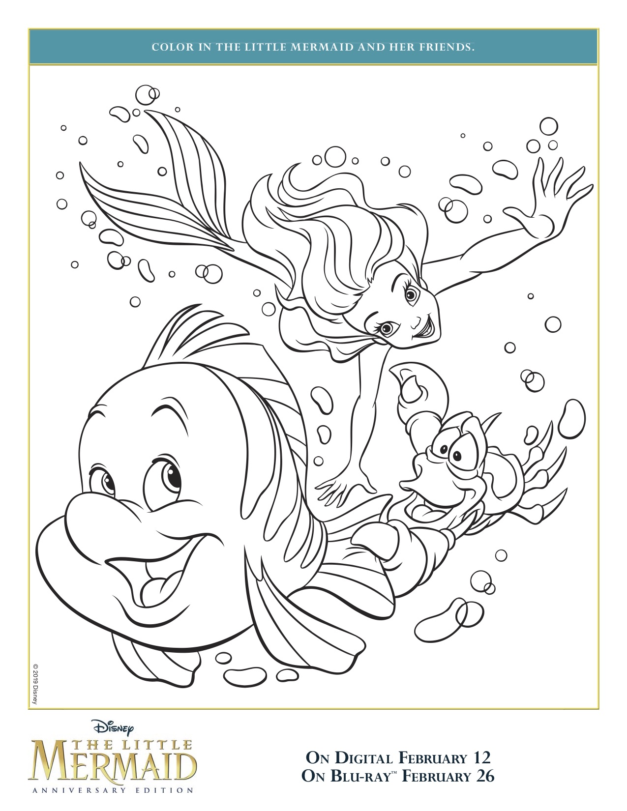 The Little Mermaid Coloring Sheets