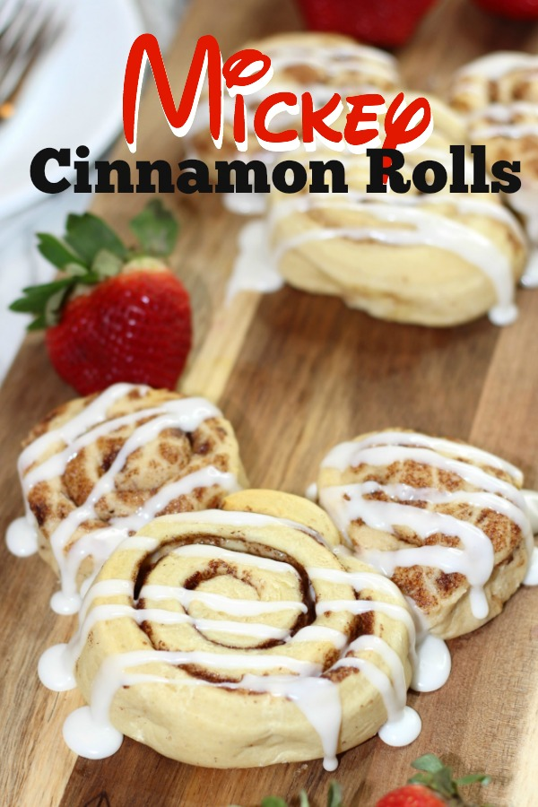Bring a little Disney magic home with this simple to make Mickey Cinnamon Rolls Recipe!
