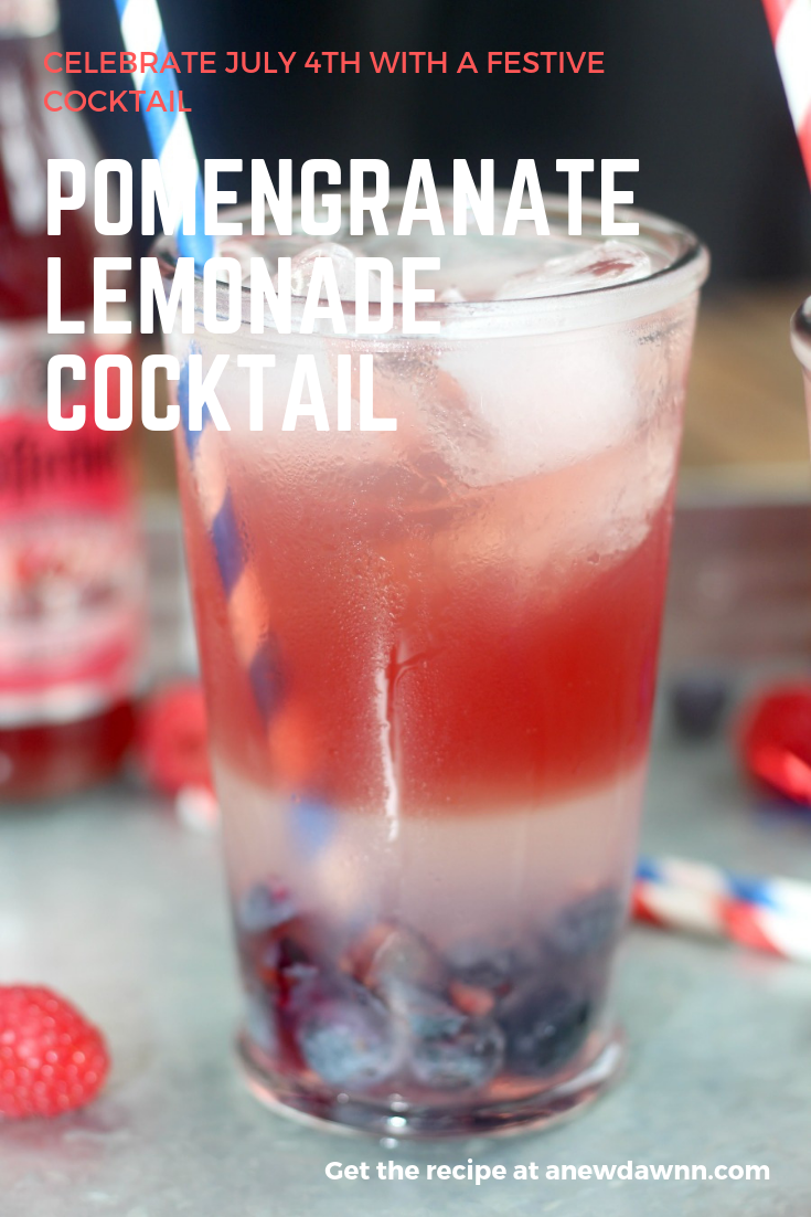 Pomegranate Lemonade Cocktail made with delicious Schofferhofer Pomegranate.