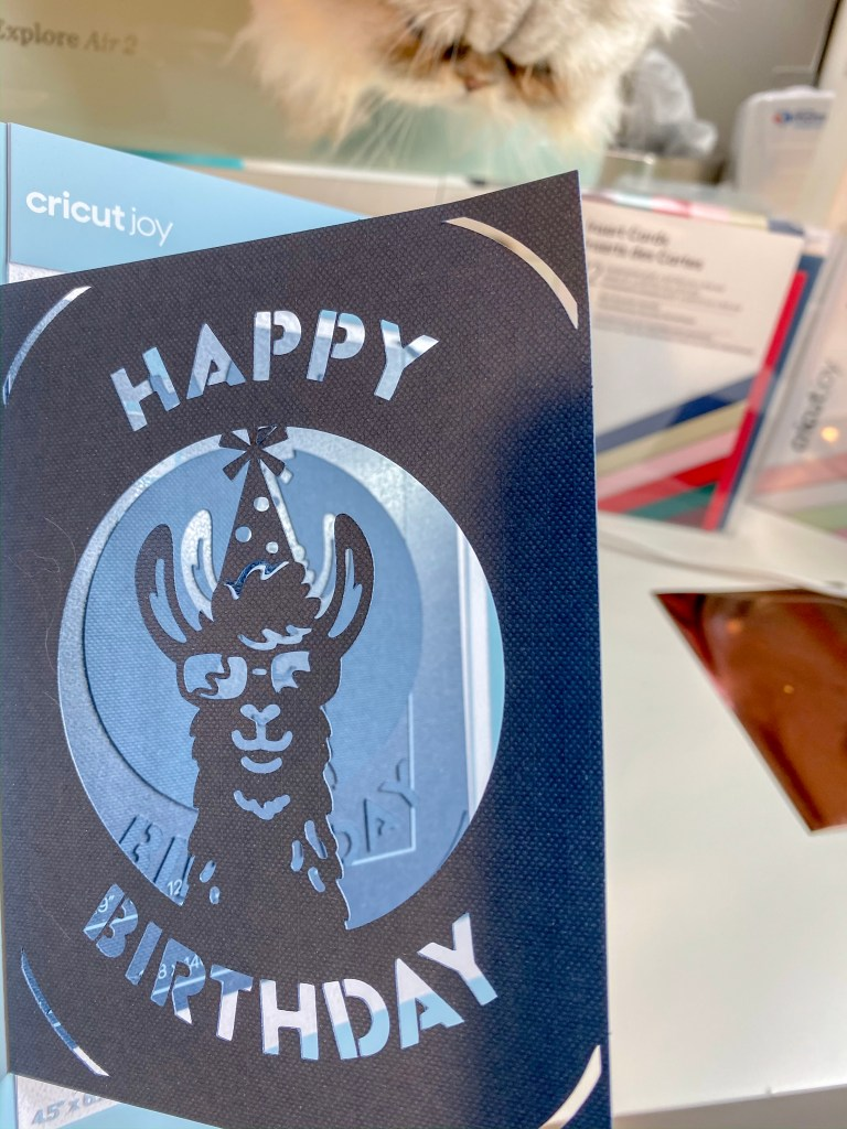 Make a fancy birthday card in minutes with the Cricut Joy