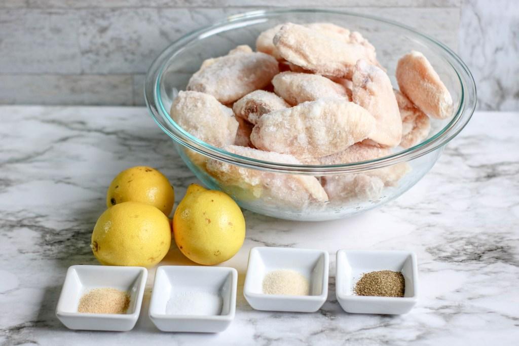 ingredients for lemon pepper chicken wings