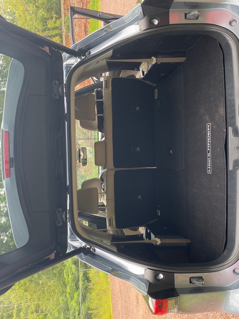 Trunk of Toyota Highlander