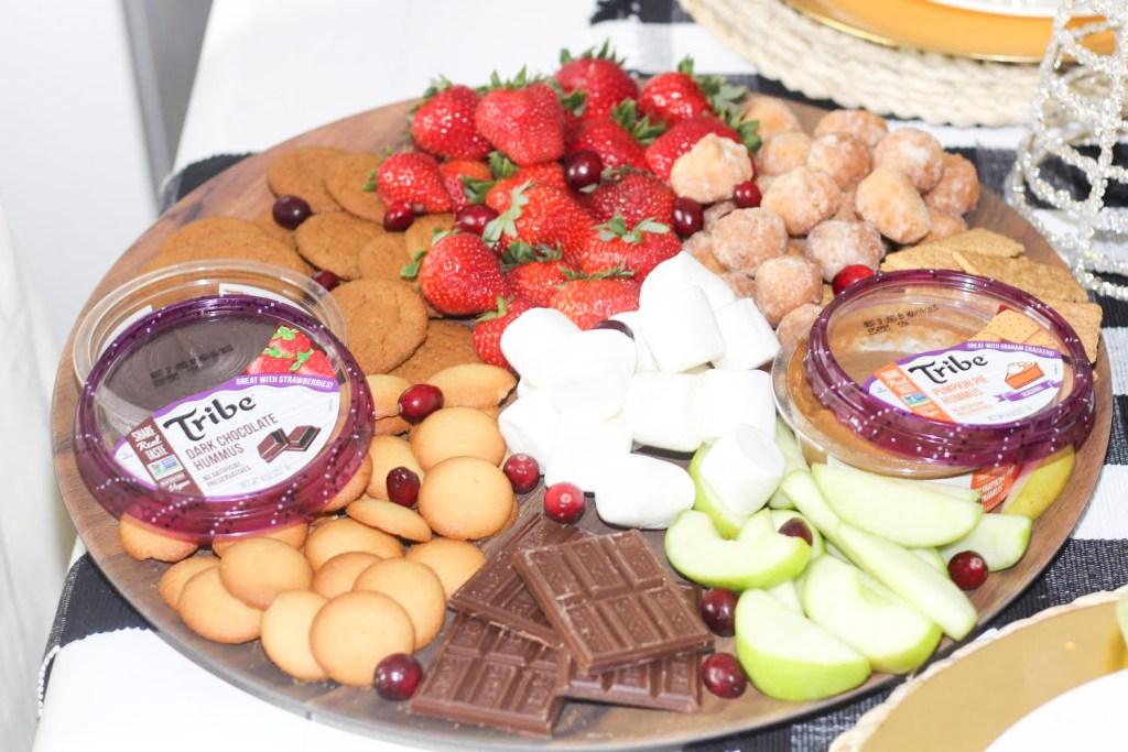 dessert hummus charcuterie board