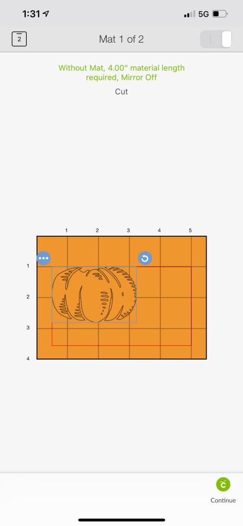 pumpkin design in Cricut Design
