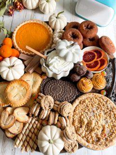 desserts on fall charcuterie board