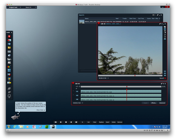 Parallels 8 Desktop for Mac - graphics performance with video editing