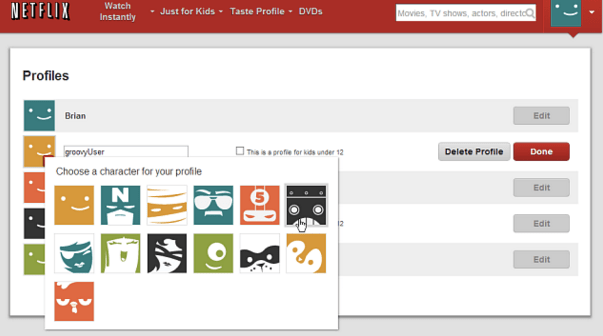 netflix how to delete profile