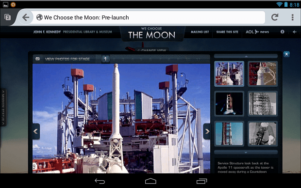 We Choose the Moon Flash Site