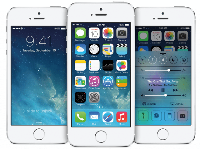 iOS 7 iPhone 5S