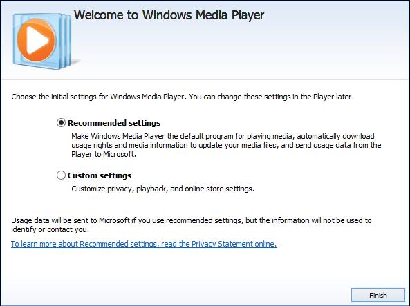 Windows Media Player Set Up