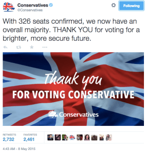 UK elections 2016 tweet from conservatives