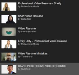 video resume 2