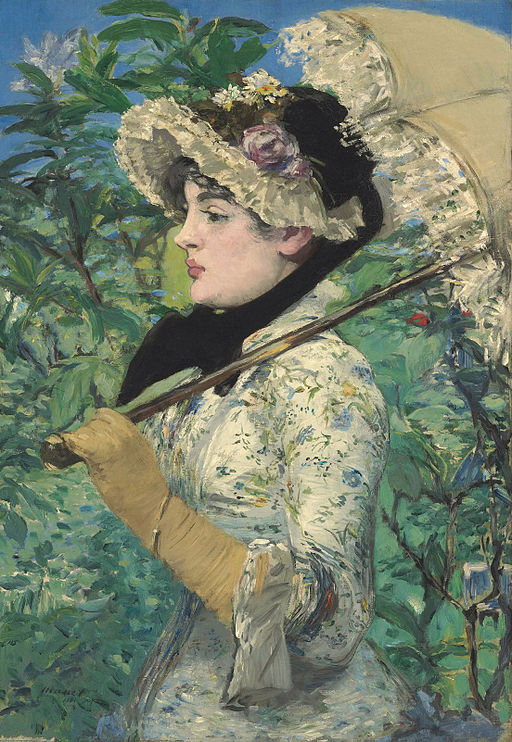 paint a naked woman Manet le pritemps