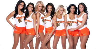 Hooters girls group Phallus Palace