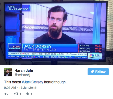 new ceo of twitter or just a beard