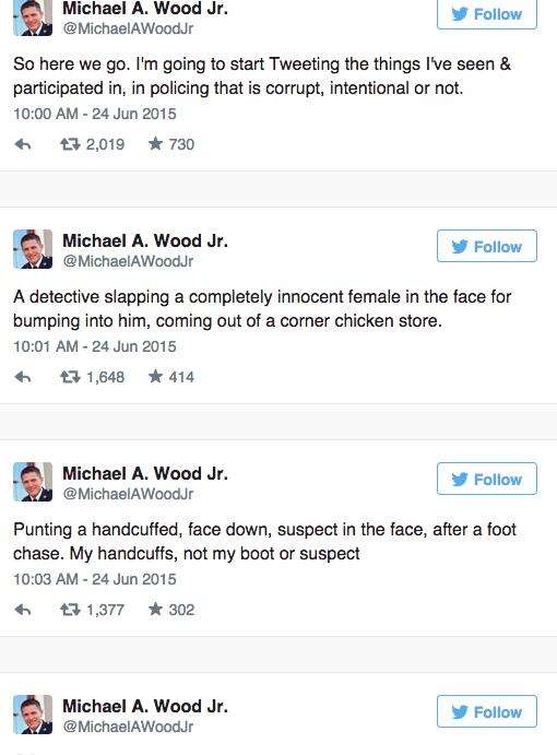 michael wood jr twitter baltimore allegations resistance