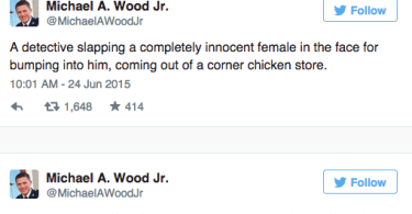 michael wood jr twitter baltimore allegations resistance