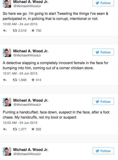 michael wood tweets baltimore police