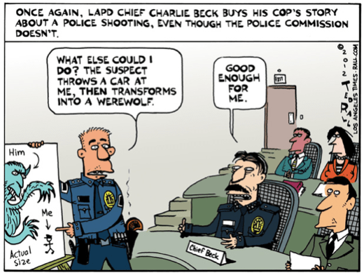 The LA Times fires Ted Rall after he criticizes police