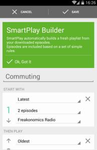 beyondpod smartplaylist