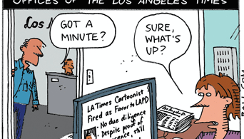 ted rall cartoon los angeles times lapd scandal