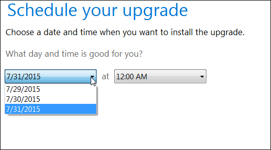 how to upgrade windows 7 to windows 10 first window schedule your update