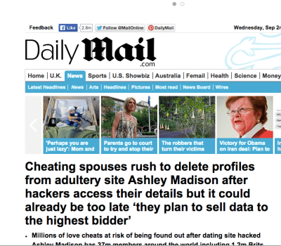 Who hacked Ashley Madison? Not the people who wrote this article! LOL