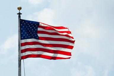 american flag democratic debate