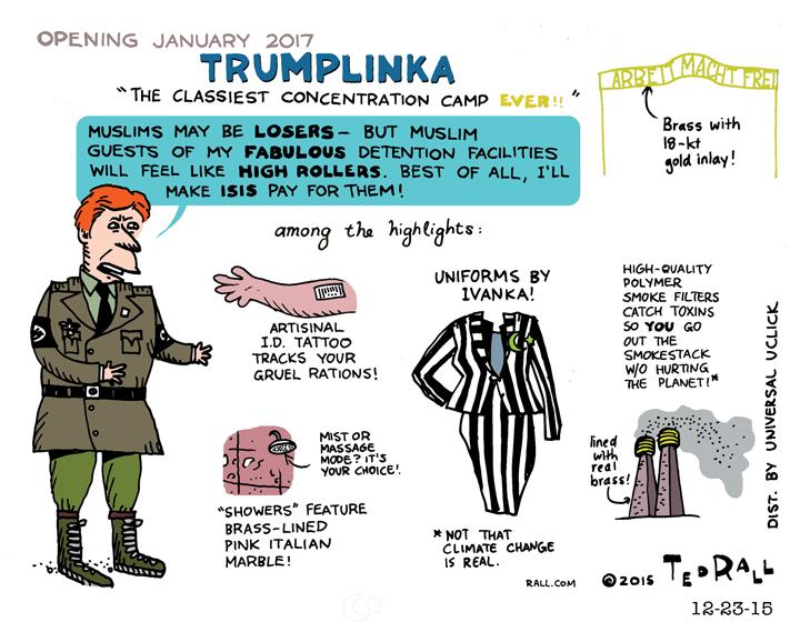 Trumplinka Donald Trump's concentration camp