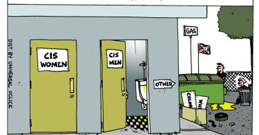 Ted Rall, Bathroom Laws, North Carolina, trans, cartoon, anewdomain