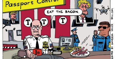 Muslim screening test eat the bacon