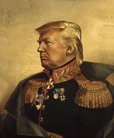 trump as golden-haired general politicsandwar.com