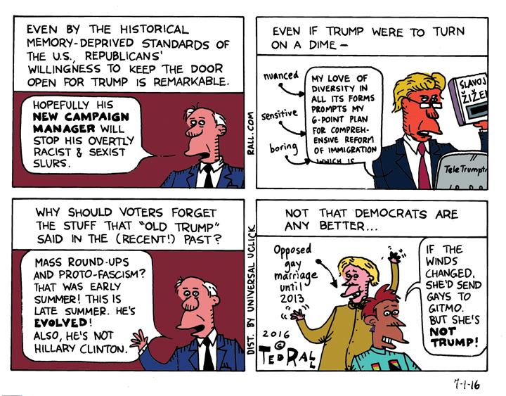 Donald Trump cartoon Ted Rall Donald Trump