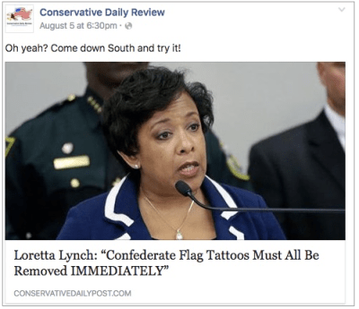 fake media conservative daily post breitbart Loretta Lynch paramedia