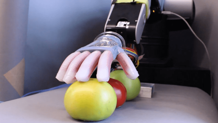 Cornell gentle touch soft hand robotic prosthetic video and research paper