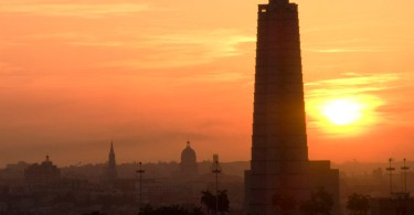 Google Cuba project Sunrise in Havana Foto tomada desde un edificio de Nuevo Vedado, se ve la silueta de la Plaza de la revolución, la cúpula del Capitolio Nacional y otros importantes edificios de la Habana.