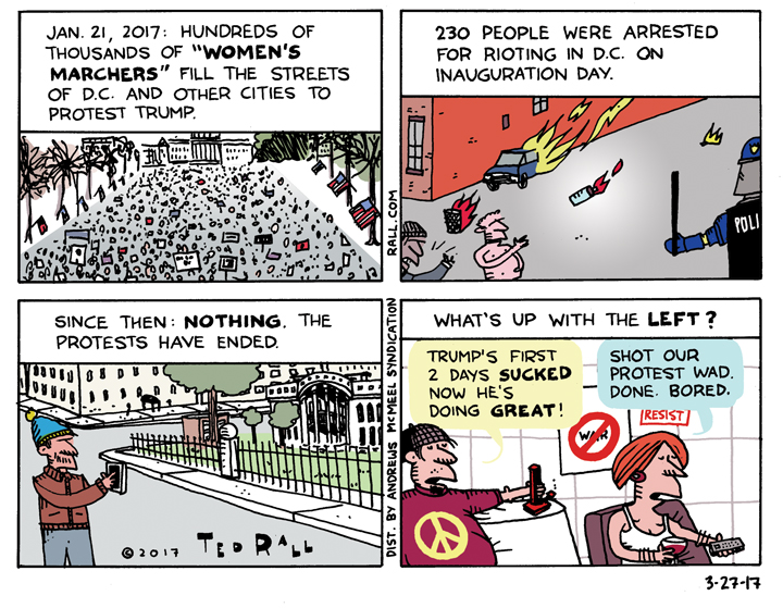 Ted Rall: So Much For The Resistance. Yawn. [cartoon]