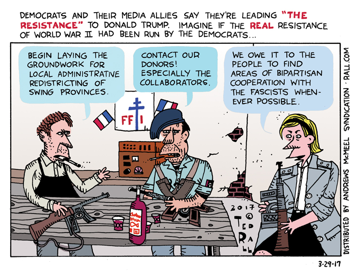 vive le resistance trump resistance lame ted rall cartoon
