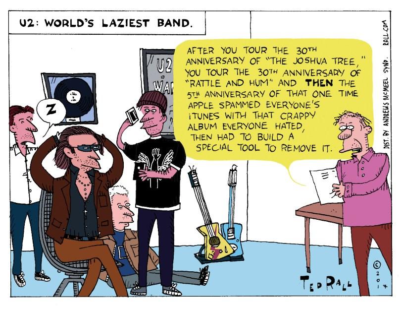 U2 Joshua Tree World's Laziest Band